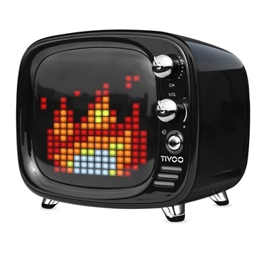 Divoom Divoom Tivoo Pixel Art Smart Siyah Bluetooth Hoparlör Siyah